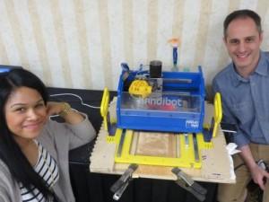 Andrea and Nick with Handibot printing web