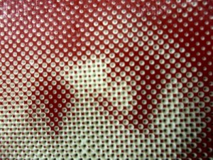 close up of dots