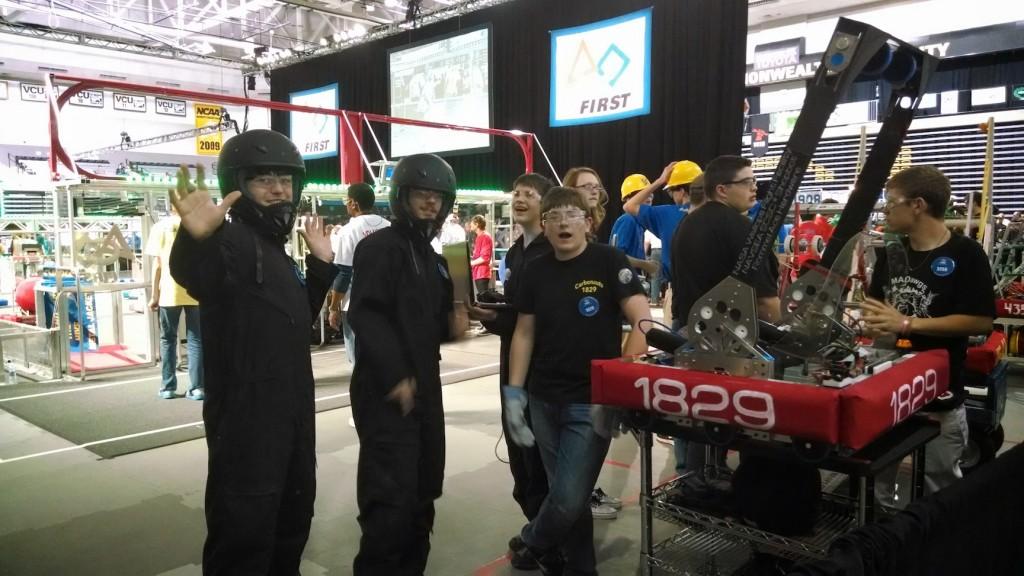 Team 1829 at FIRST Robotics regionals in Virginia
