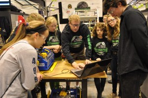 Paul Suplee and members of Team Titanium Wrecks demonstrate the Handibot Tool