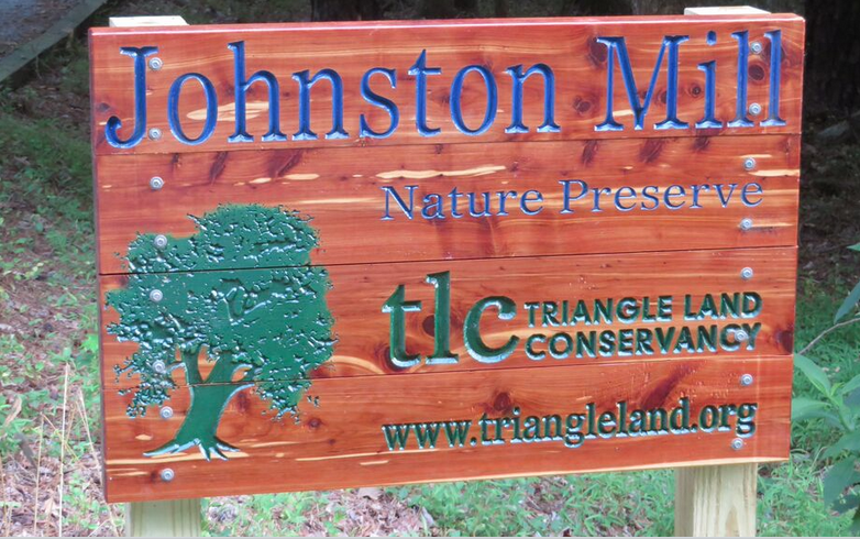 TLC's new sign for Johnston Mill, made with a Handibot