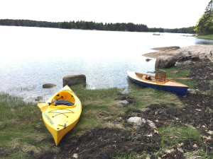 Scout, my kayak-like, decked-canoe on the right
