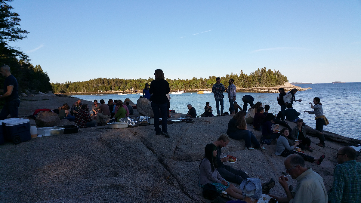 Lobster bake on the beach at Haystack