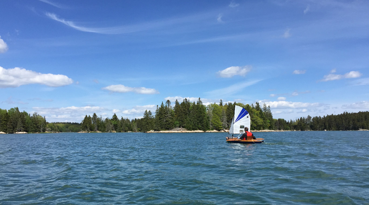 My Scout, decked-canoe under sail